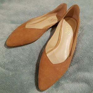 Franco Sarto Shimmy Biscuit Leather Flats